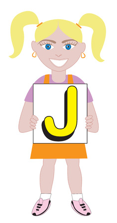 Alphabet Kids available as a Vector or Raster Illustration Stock Vector - 24062933