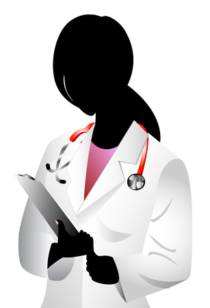 Vector of white woman doctor. See others in this series. photo