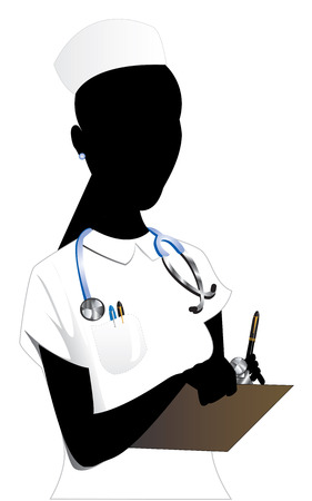 Vector Illustration of an Asian woman Nurse 2. illustration