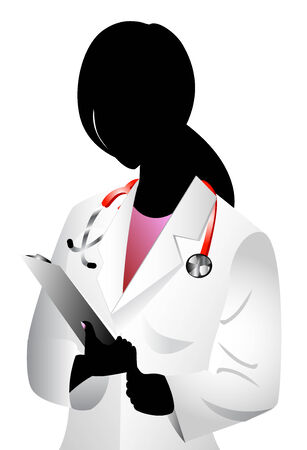 african woman at work: Vector of white woman doctor. See others in this series. Stock Photo