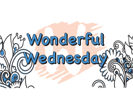 Vector Illustration of wonderful Wednesday 5 Days of the Week Illustration