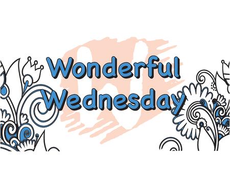 Vector Illustration of wonderful Wednesday 5 Days of the Week Illustration