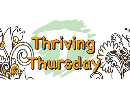 Vector Illustration of thriving Thursday 5 Days of the Week