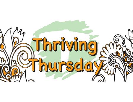 thursday: Vector Illustration of thriving Thursday 5 Days of the Week