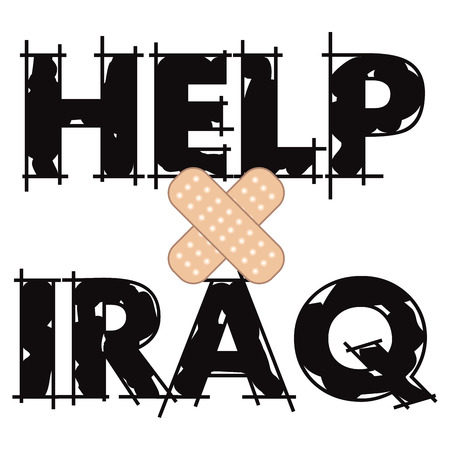 Vector Illustration to Help Iraq, one of the most dangerous countries in the world also a place where Christians face persecution.
