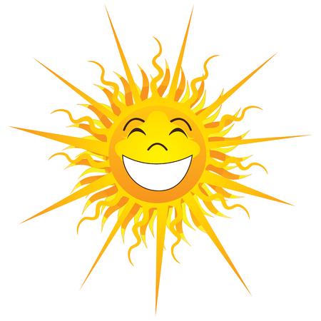 Illustrazione Vettoriale di Happy Sunshine isolato.