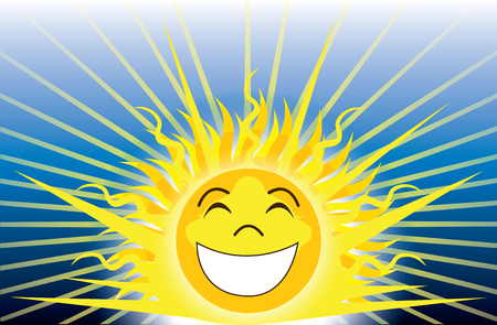Vector Illustration of Sunshine, be happy.