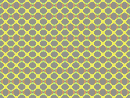 Abstract multicolored illustration. Yellow chain on a gray background. Seamless pattern. Mosaic background texture. Computer generated