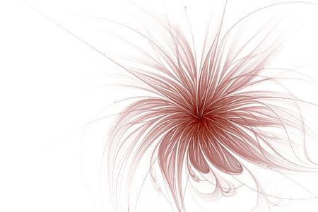 추상 프랙탈 꽃 컴퓨터 생성 이미지입니다. 밝은 배경 디자인