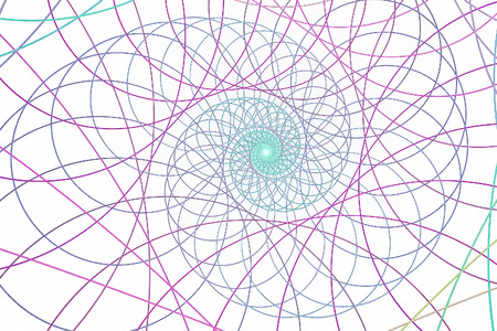 Abstract multicolored illustration on a light background. Background design. Spiral, curl Stock Photo