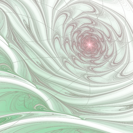 Abstract multicolored illustration on a light background. Background design. Spiral, curl Zdjęcie Seryjne