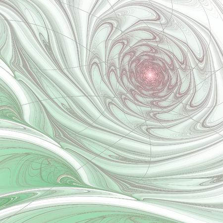 Abstract multicolored illustration on a light background. Background design. Spiral, curl Reklamní fotografie