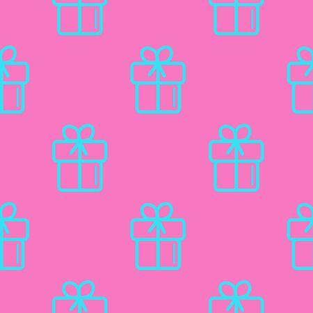 Wedding background seamless vector pattern in modern flat style. Standard-Bild - 129031474