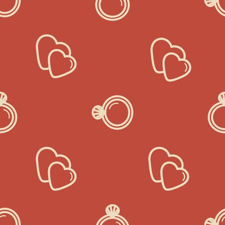 Wedding background seamless pattern in modern flat style. Banque d'images - 131963815