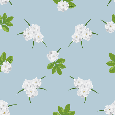 Cute Floral pattern in the small white flower.