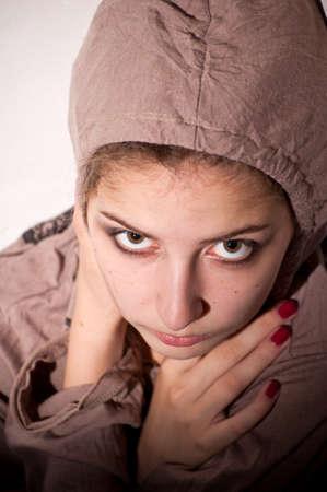 teenage problems: problemas de los adolescentes. Soledad, violencia, depresi�n  Foto de archivo