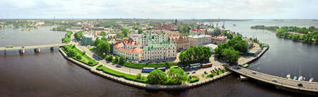vyborg: panorama of the seaside city. Russia, Vyborg, Baltica. Stock Photo