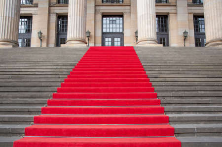 the place is important: Red carpet on a steps principal staircase.
