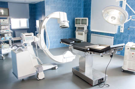 operating table: operating room with X-ray medical scan