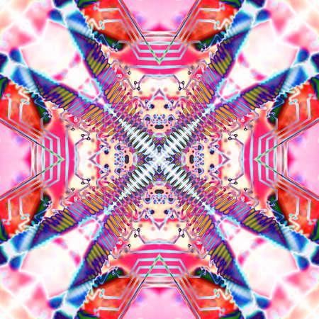 Art abstract design. Vivid, color, mirror pattern.