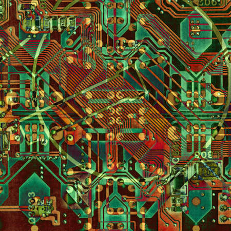 Abstract pattern with circuit board electronic elements. Standard-Bild - 116245342