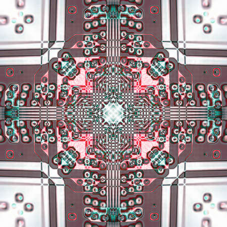 Abstract pattern with circuit board electronic elements.