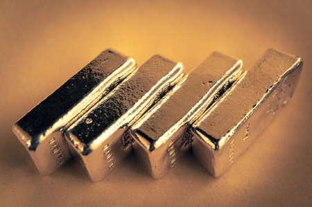 Precious shiny gold bars. Background for finance banking concept. Trade precious metals. Bullions.