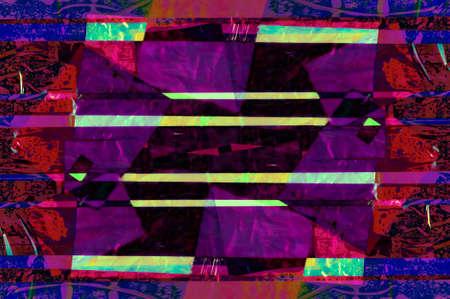 Tablero de estado de ánimo de patrón abstracto de arte contemporáneo. Collage hecho a mano de recortes de papel. Fondo de textura de técnica mixta. Arte de tendencia, cultura de fanzines creativos. Foto de archivo
