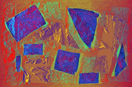 Tablero de estado de ánimo de patrón abstracto de arte contemporáneo. Collage hecho a mano de recortes de papel. Fondo de textura de técnica mixta. Arte de tendencia, cultura de fanzines creativos.