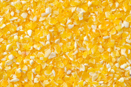 Closeup of tinned whole kernel corn, it could be used as background photo