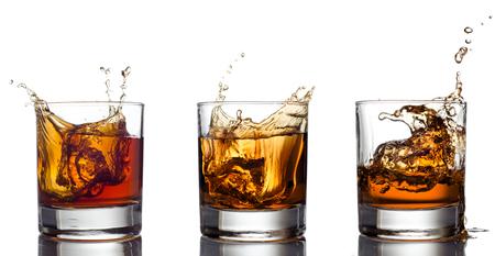 Glass of whiskey isolated on white Zdjęcie Seryjne - 23268554