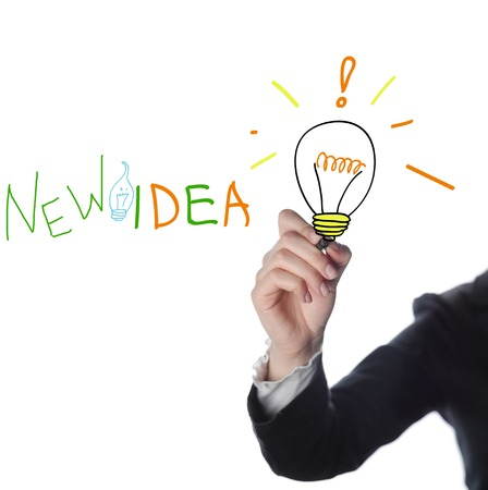 business man success concept by goal, vision, creativity, teamwork, focus, inspiration, training, etc.