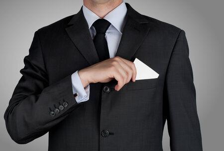 exacting: beautiful businessman in black costume tie ones necktie Stock Photo