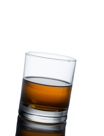 shooter drink: whisky glass isolated on a white background