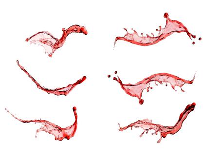 Wine splash set isolated on white background close up photo