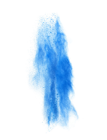 colorful powder splash isolated on white background Stock Photo