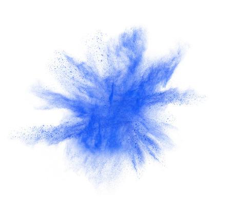 colorful powder splash isolated on white background Standard-Bild