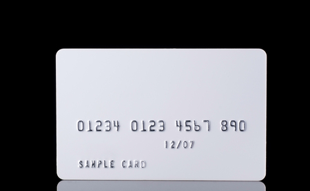 mastercard: Detail Textured Credit Card on black close up