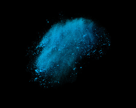 Color powder explosion isolated on black background Фото со стока - 37724043