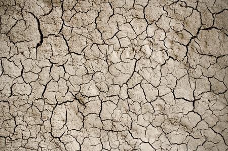 Suché popraskané země pozadí, jílové poušť textury. Reklamní fotografie