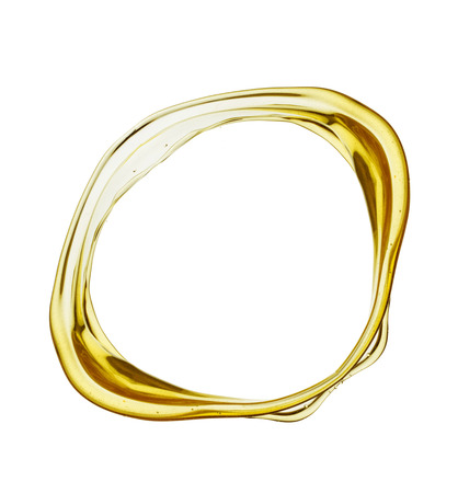 Olive oil splash isolated on white background.