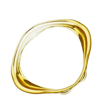 aceite oliva: Oliva salpicaduras de aceite aislado en el fondo blanco.