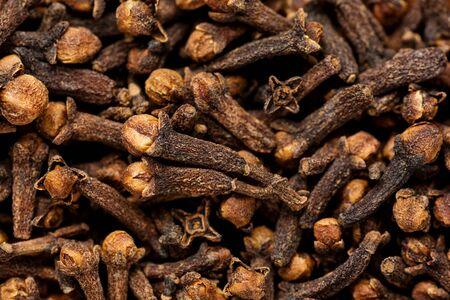 clove: freshly dryed clove spice texture, Bali Indonesia