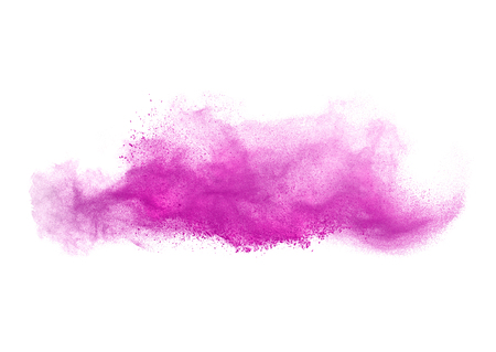 colorful powder splash isolated on white background. Stock Photo