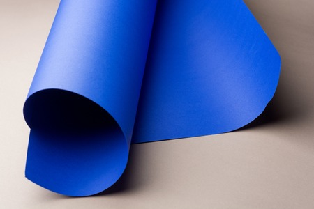 Abstract image of blue paper rolls with copy space.