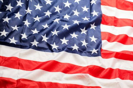 Beautifully waving star and striped American flag. Zdjęcie Seryjne