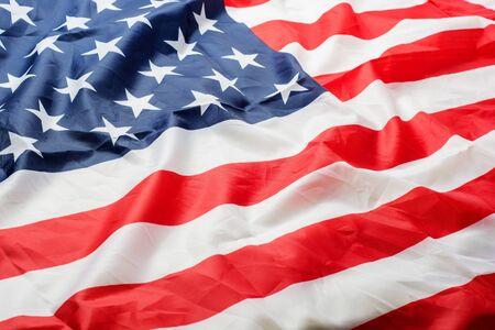 Beautifully waving star and striped American flag Zdjęcie Seryjne