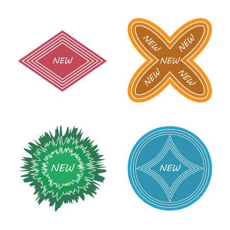 several: several style of new badge set,vector Illustration EPS10