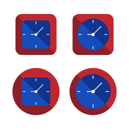 時計のアイコン セットのいくつかのスタイルのベクトル図 EPS10