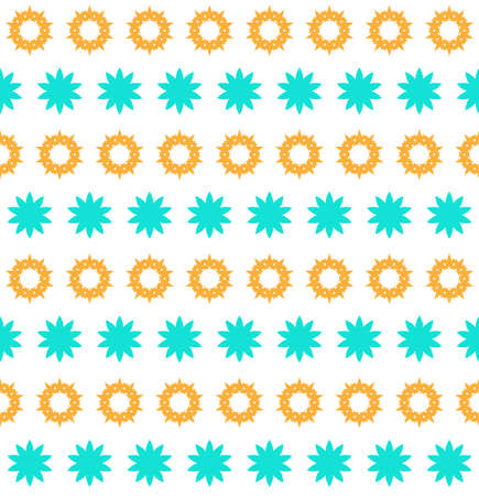 Orange and blue floral design pattern background,vector Illustration EPS10